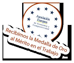 medalla de oro al mérito en el trabajo por diseño web en Madrid