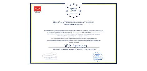 Certificado AEDEEC